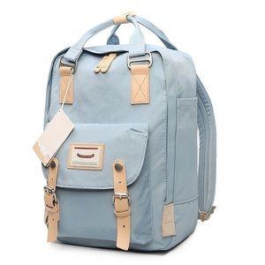 Light blue backpack